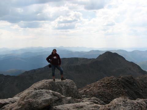 It is pretty hard to breathe above 14,000 feet, but the view is worth it.