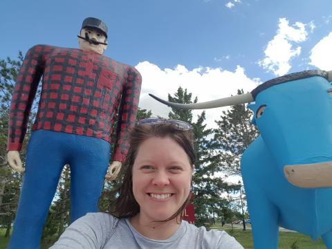 I went to Brainerd for the first time to see Paul Bunyan.