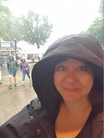 It was a rainy day when I was at the State Fair.