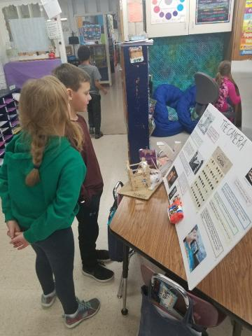 Students enjoyed looking at each others projects.