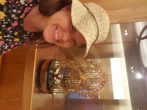 I saw the Twins World Series trophy!