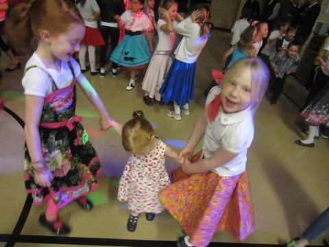 Dancing at the Sock Hop