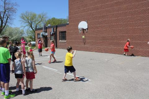 Basketball Relay