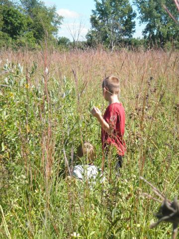 Some of those grasses were taller than the students!