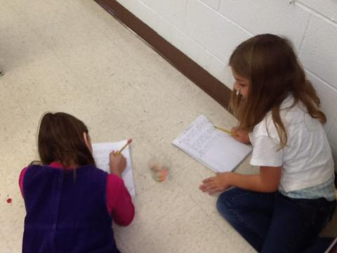 Recording our observations.