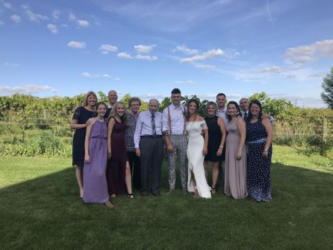 My whole family came together to celebrate my nephew's wedding.