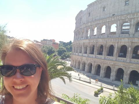 I went to Rome and visited places like the Colosseum that are almost 2,000 years old.
